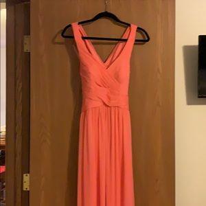 David's bridal Bridesmaid Dress size 0 coral reef